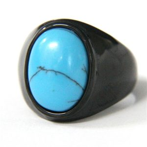 Chevaliere homme pierre bleu