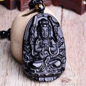Collier bouddhiste homme avec bouddha