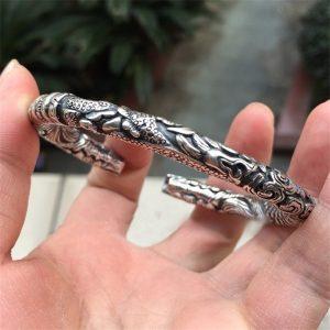 Veritable bracelet viking argenté