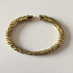 Veritable bracelet viking doré